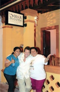 Ohana Cozumel Owners and Founders Angie, Charlie and Patricia
